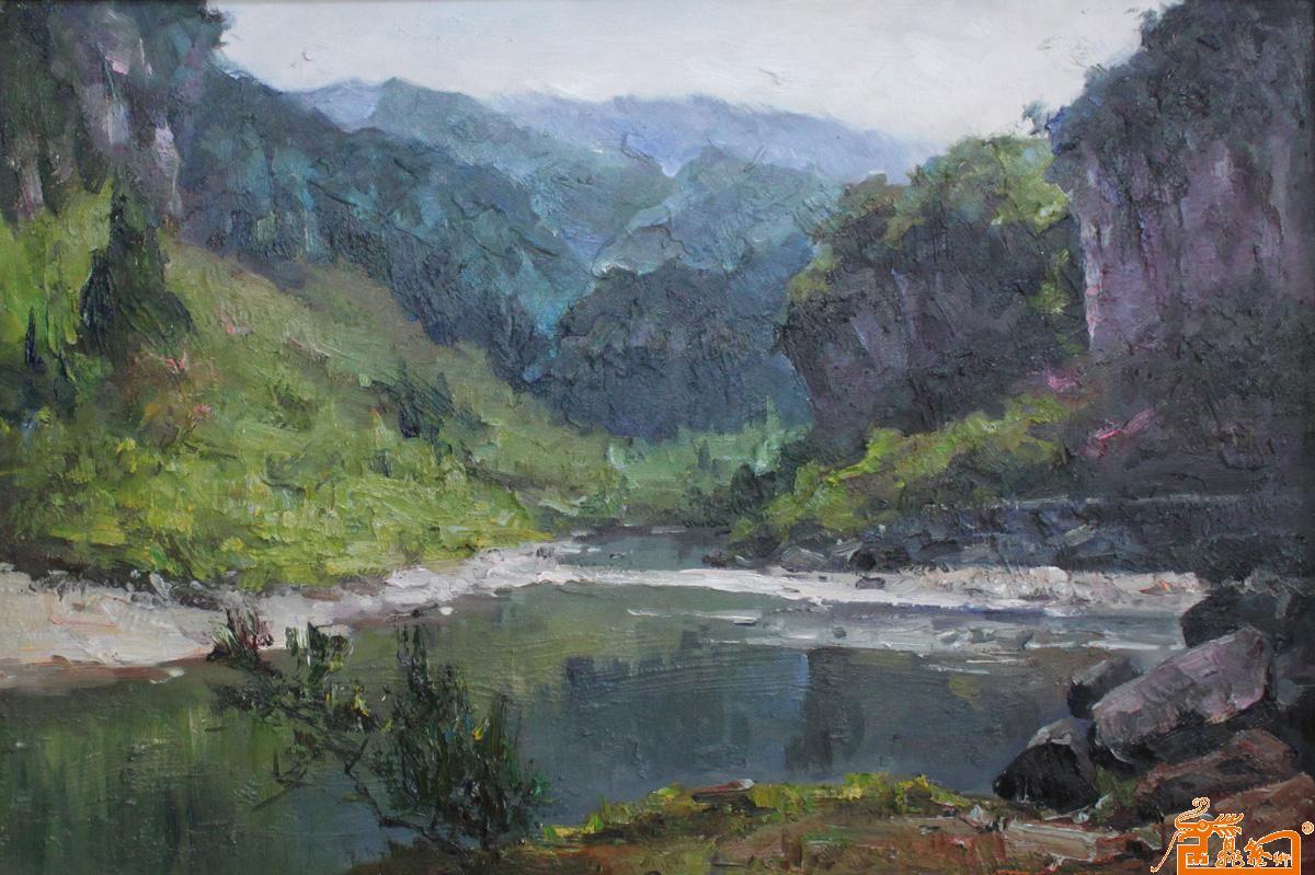 名家 薛金拥 油画 - 作品108风景系列25